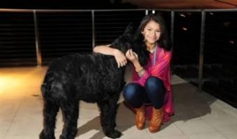 y zendaya se saca una foto con su perro (no es nada malo)