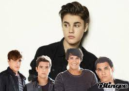 big time rush y justin ga**er