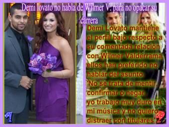 Demi no habla de Wilmer