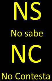 NO SABE/NO RESPONDE